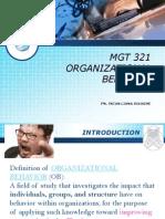 Organizational behaviour slide presentation