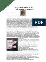 Crónica Nº 92 - Não me revejo no sistema político em Portugal