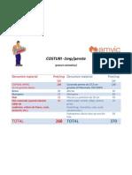 Costuri estimative - comparative