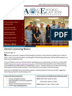 MWU-CDMA American Student Dental Association Newsletter - Winter 2012
