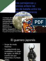 Algunas semejanzas y diferencias entere las expresiones de batalla entre los samuráis y los guerreros prehispánicos