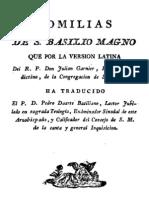 Homilias de San Basilio Magno