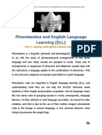 Phonotactics and English Language Learning (ELL)