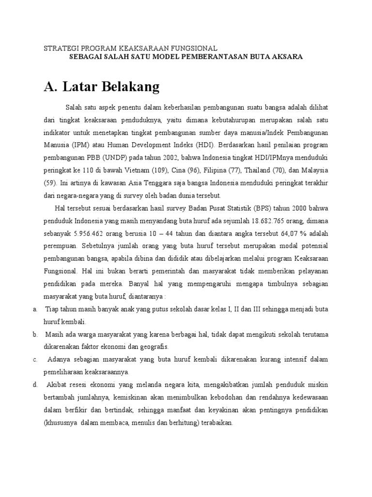 Proposal Buta Aksara