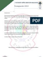 Documento Presupuesto 2013