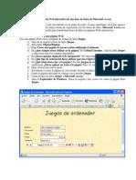 Base de Datos Dentro de Una Pagina Web.