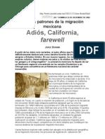 Nuevos patrones de la migración mexicana