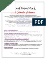 City of Woodstock Event Calendar 2012 _2