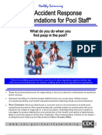 Fecal Accident Response Recommendations for Pool Staff