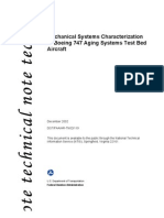 Mechanical Systems Characterizations for Boeing 747