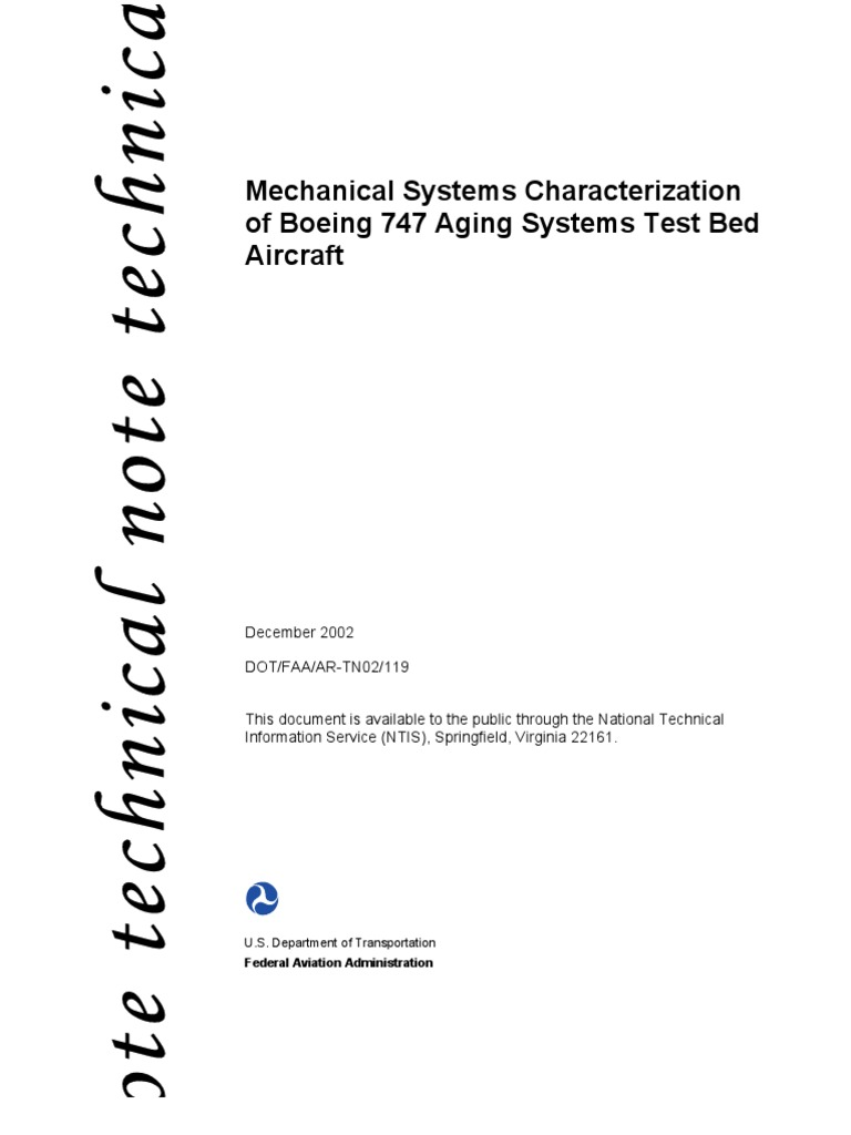 mechanical systems characterizations for boeing 747 federal rh scribd com