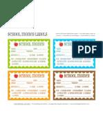 School Money Labels Abp