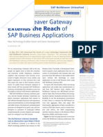 SAP NetWeaver Gateway Extends the Reach of SAP Business Applications (1)