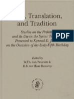Text ranslation and tradiciton