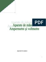 Aparate de Masura - Ampermetre Si Voltmetre