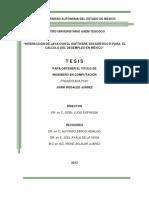 interraccion de java con el software estadistico R para el calculo del desempleo en mexico
