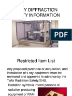 x ray diffraction safety information