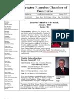 Greater Romulus Chamber of Commerce Newsletter January 2013
