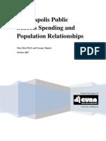 Minneapolis Public Schools Spending and Population Relationships