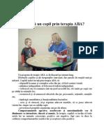 Ce învaţă un copil prin terapia ABA