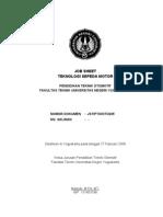 Jobsheet Teknologi Sepeda Motor OTO 225 ISO Komplit