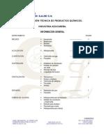 Ficha técnica químicos  usados en ingenio azucarero