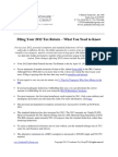 Filing Your 2012 Tax Return - What You Need to Know