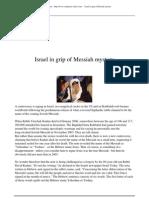 Israel in Grip of Messiah Mystery
