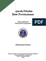 Sejarah FIlsafat Perencanaan
