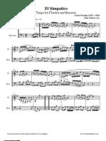 [Clarinet Institute] Posadas El Simpatico for Clarinet and Bassoon