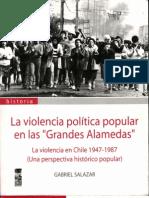 La violencia política popular en las grandes alamedas. Gabriel Salazar.