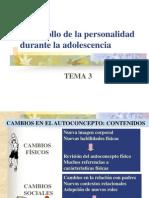 Desarrollo de la personalidad en la adolescencia