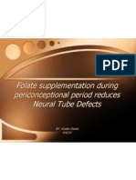 folate and neural tube defects
