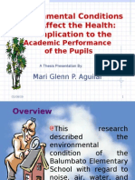 ENVIRONMENTAL CONDITIONS OF BALUMBATO ELEMENTARY SCHOOL ANDTHEIR PERCEIVED EFFECTS ON  THE HEALTH   OF THE PUPILS