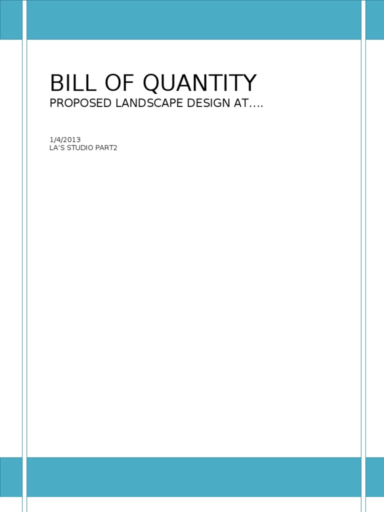 Bill of quantities landscape architecture agriculture thecheapjerseys Images