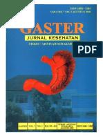 Jurnal Kesehatan Gaster (Agustus 2010)