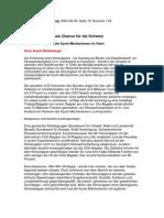 Der Klimarappen als Chance für die Schweiz / Die Glaubwürdigkeit der Kyoto-Mechanismen im Visier