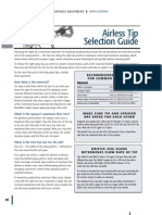 Tip Selection for Industrial spray painting