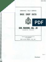 Base Shop Data Gun, Machine, Cal. .30 Browning M1917A1