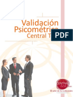 VALIDACIÓN DE UN TEST.