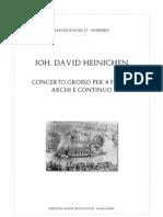 Heinichen Concerto 4 Flauti Archi e Basso Score