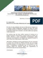 APOYO COORDINADORA DE ESTIBADORES A LA FACULTAD DE NÁUTICA DE BARCELONA