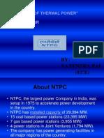 NTPC BADARPUR training report
