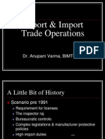 Export & Import Trade Operations