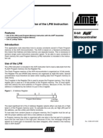 Setup and Use of the LPM Instruction