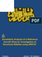 Aeroelastic Analysis of a wing (Pressentation)