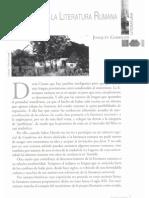 Garrigós, Visión sobre la literatura rumana