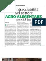 LA RINTRACCIABILITà NEL SETTORE AGRO-ALIMENTARE