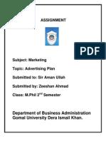Advertisement Plan
