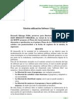 Mocion Software libre Ayuntamiento Busturia